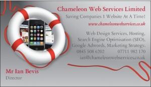 Chameleon Web Design Business Card