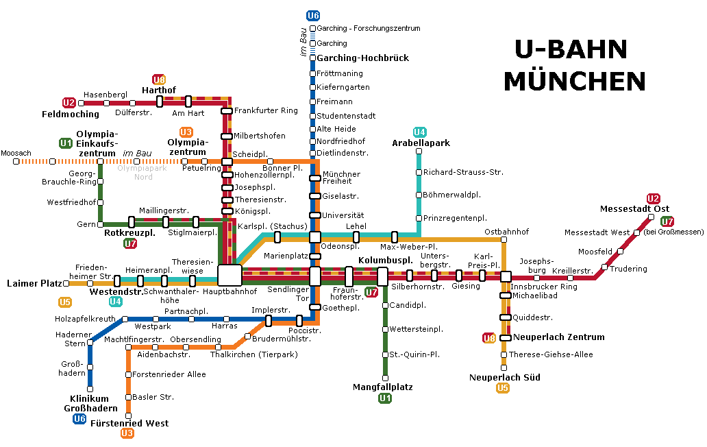 Munich U-Bahn Map