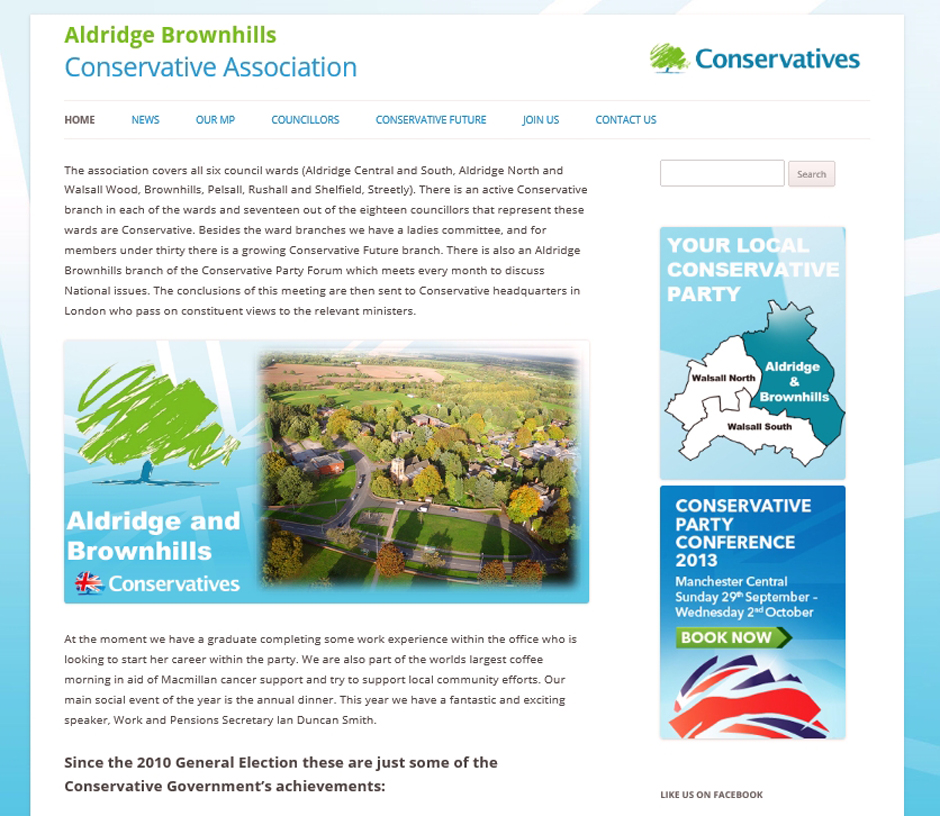 conservative party website