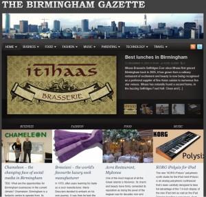 Birmingham Gazette Business Profile - the changing face of social media in Birmingham