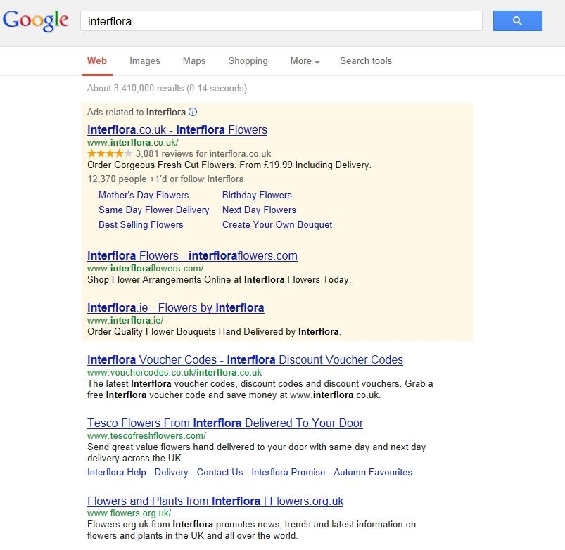 Interflora SEO Google Penalty Analysis