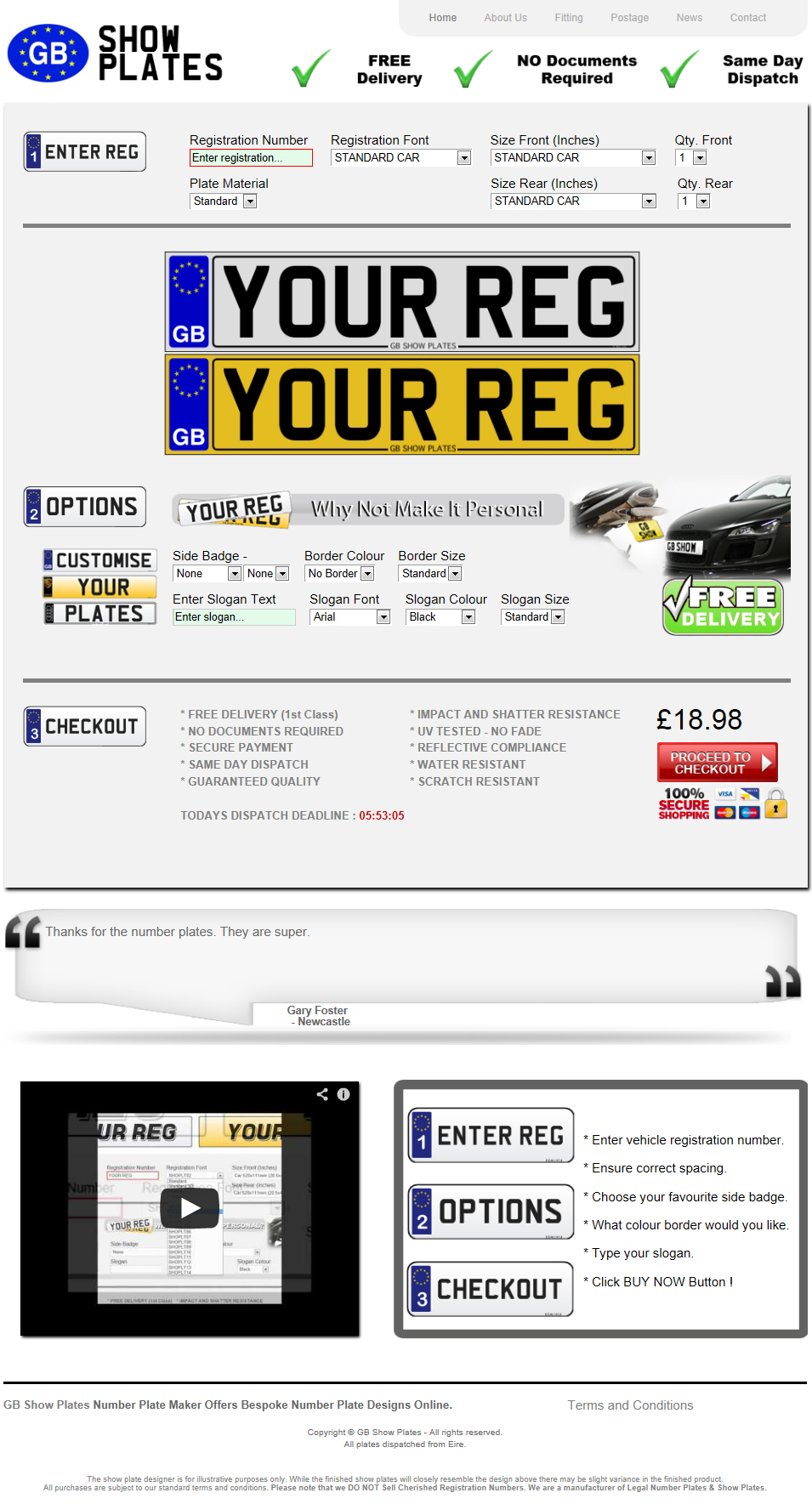 Number Plate Making Website Software
