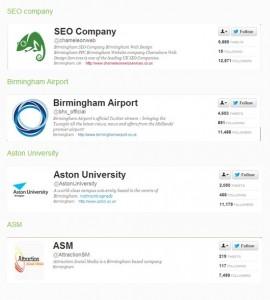 Influential Birmingham Twitter Users