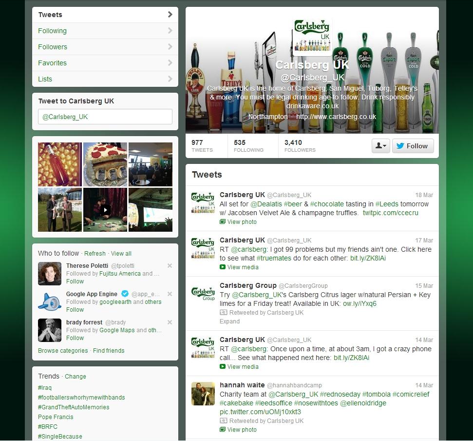 Carlsberg Twitter Brand