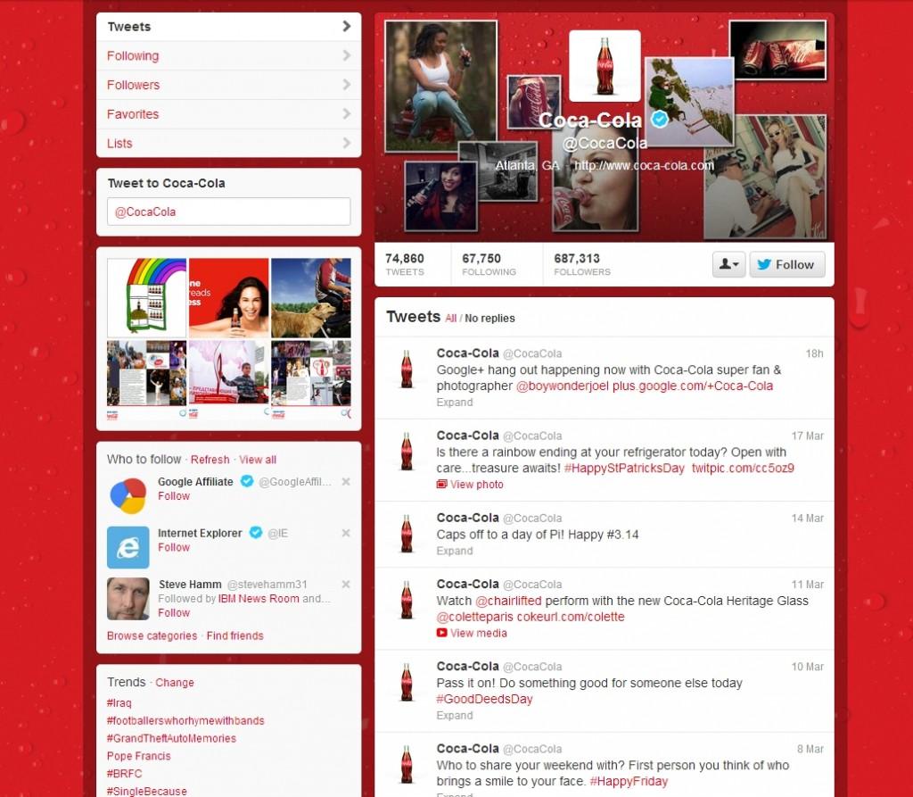Coca Cola Twitter Brand
