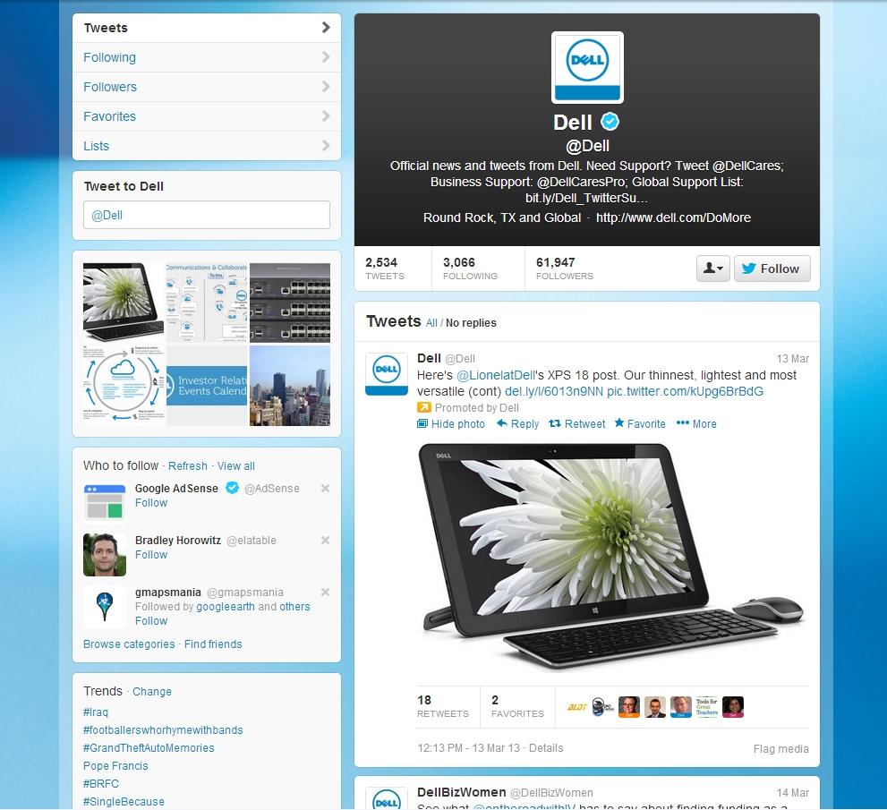 Dell Twitter Brand