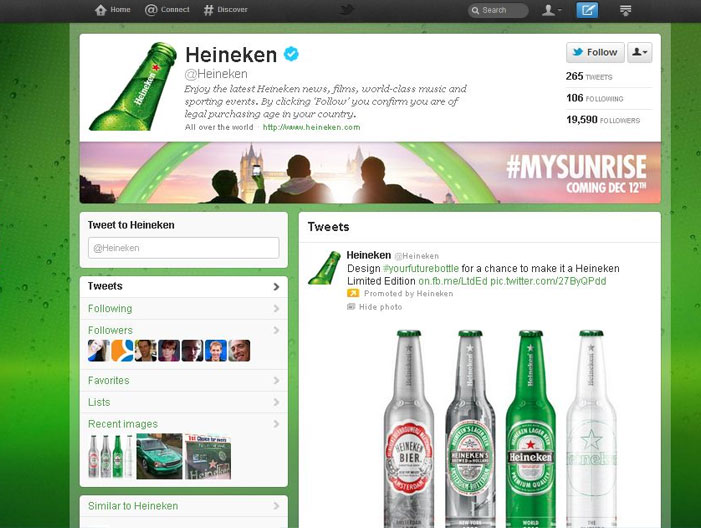 Twitter Heineken Brand
