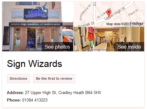 Sign Wizards Google Business Photos