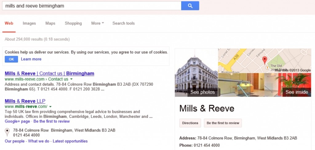 Mills and Reeve Birmingham Google Business Photos