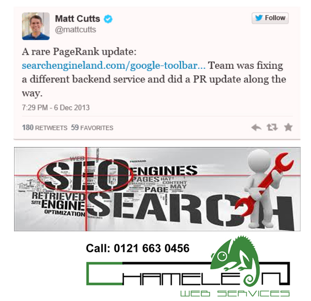 Google Page Rank Update 6 DEC 2013