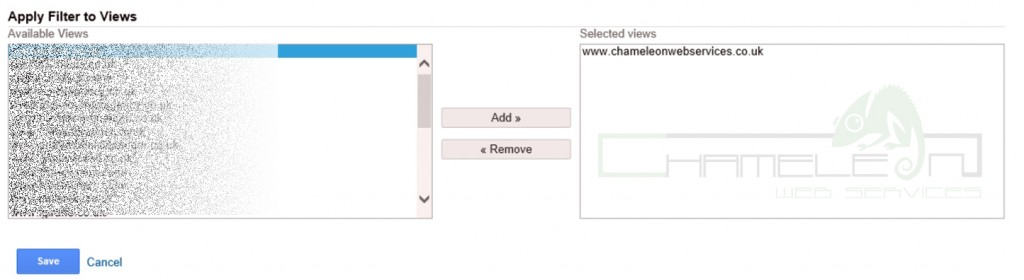 Google Analytics not provided Filter Views
