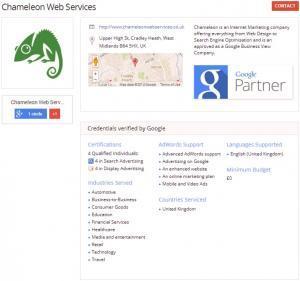 Google Partner Page
