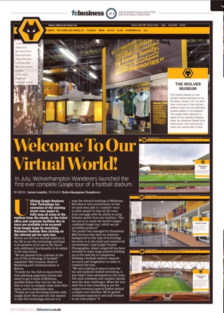 FC Business Football Stadium Virtual Tour Article