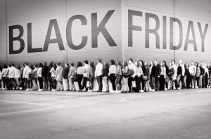 Black Friday People Queing