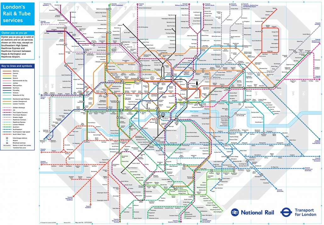 London Underground Downloadable Map 2012