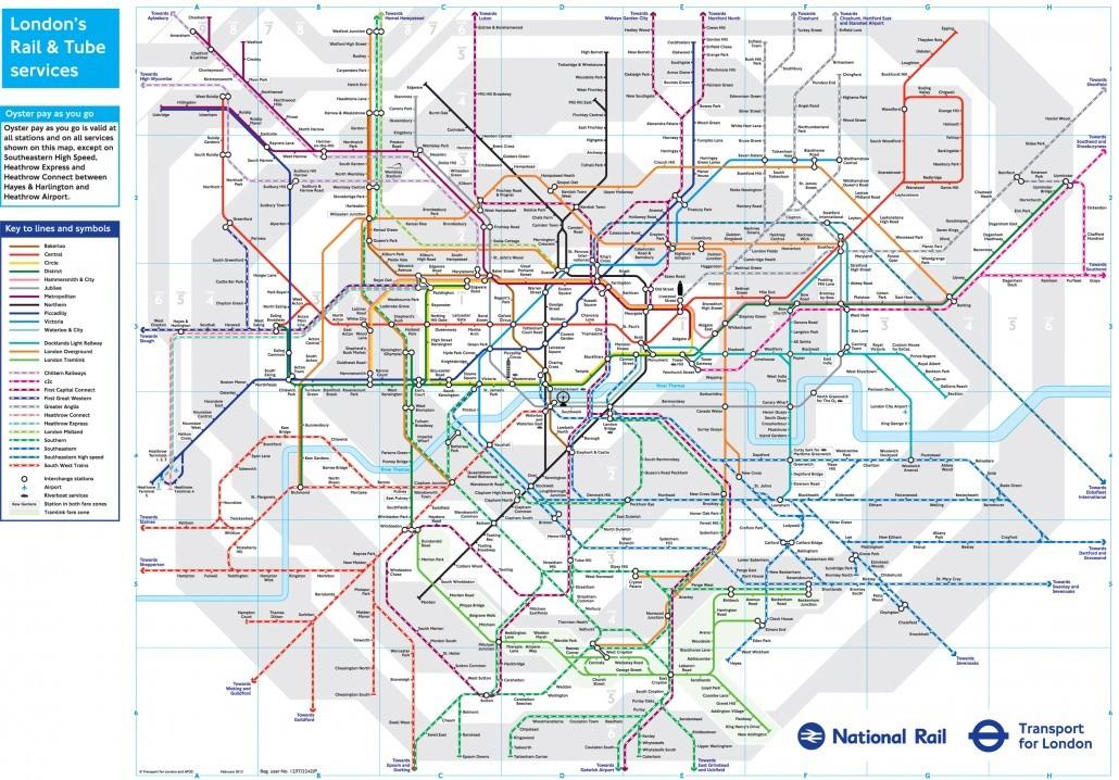 london underground downloadable map 2012