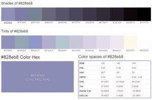 Colour #828eb8