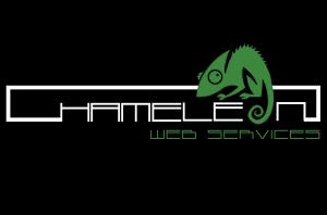 Chameleon Logo white with black