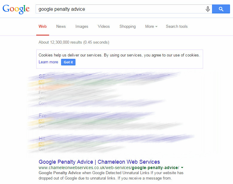 google penalty advice
