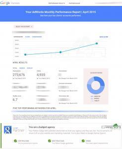 Google Partner Adwords Performance Report