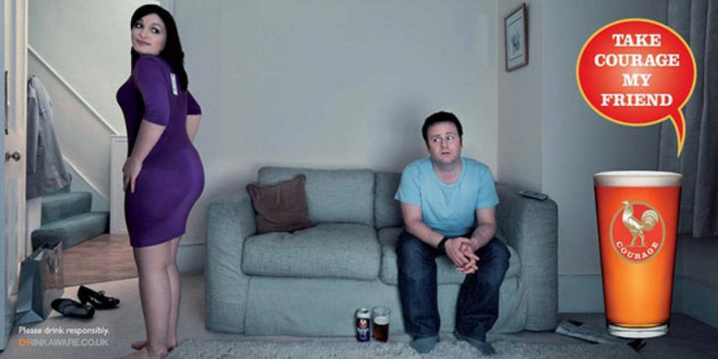 Courage Beer Advert - Does my bum look big in this