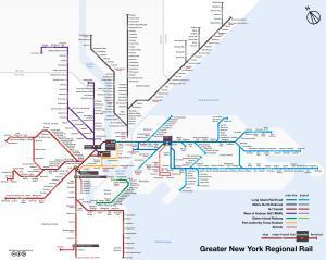 New York Commuter Rail Lines 2015