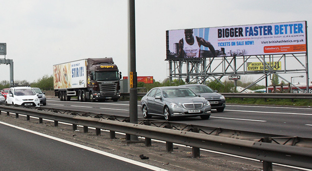 Digital Advertising On Motorways