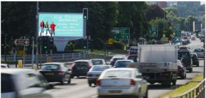 Belgrave Middleway Birmingham Digital Board