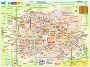 Verkehrsnetz München munich U Bahn Rings