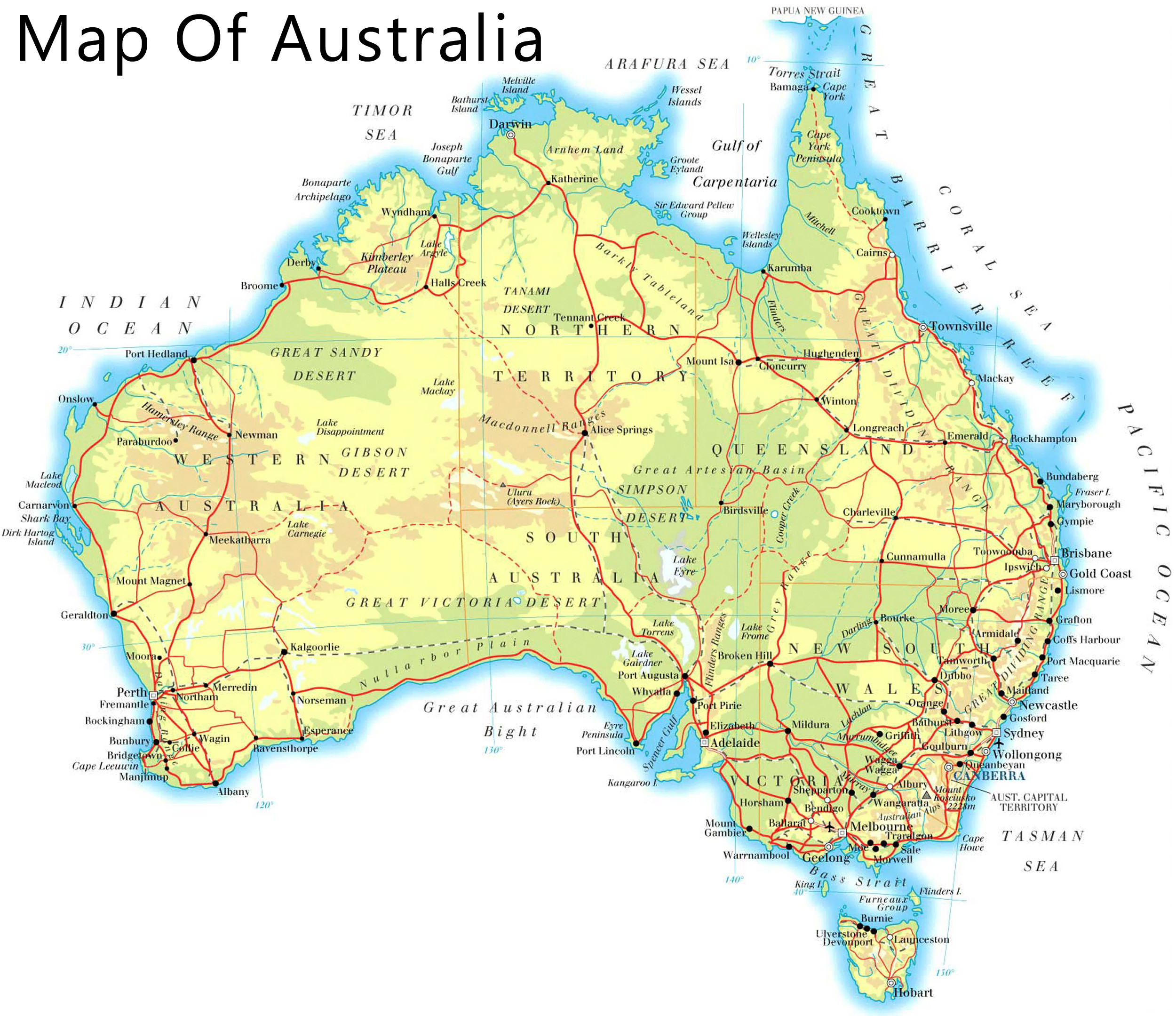 Maps Of The World To Print And Download Chameleon Web Services - Australian map of the world