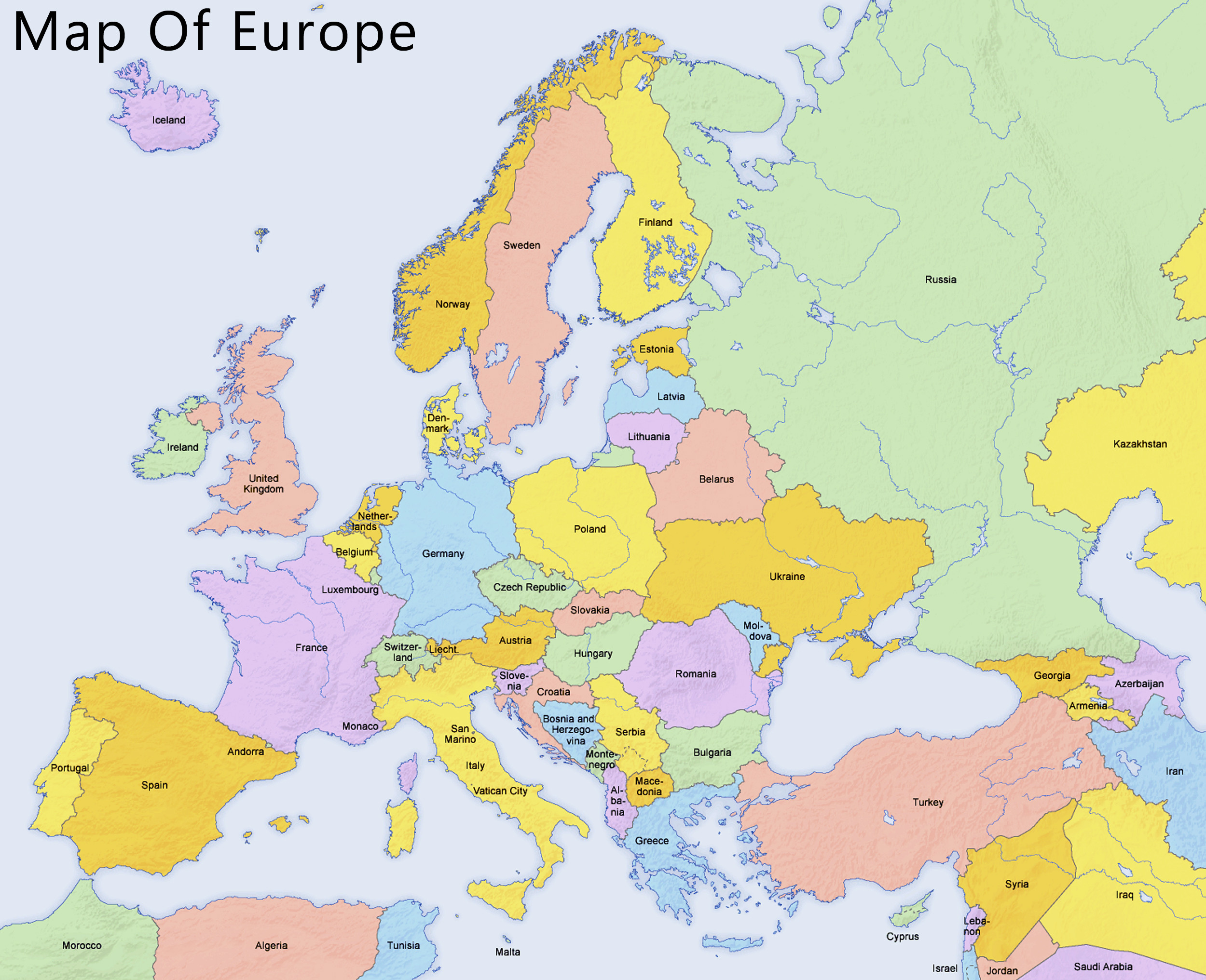 map of europe - photo #14