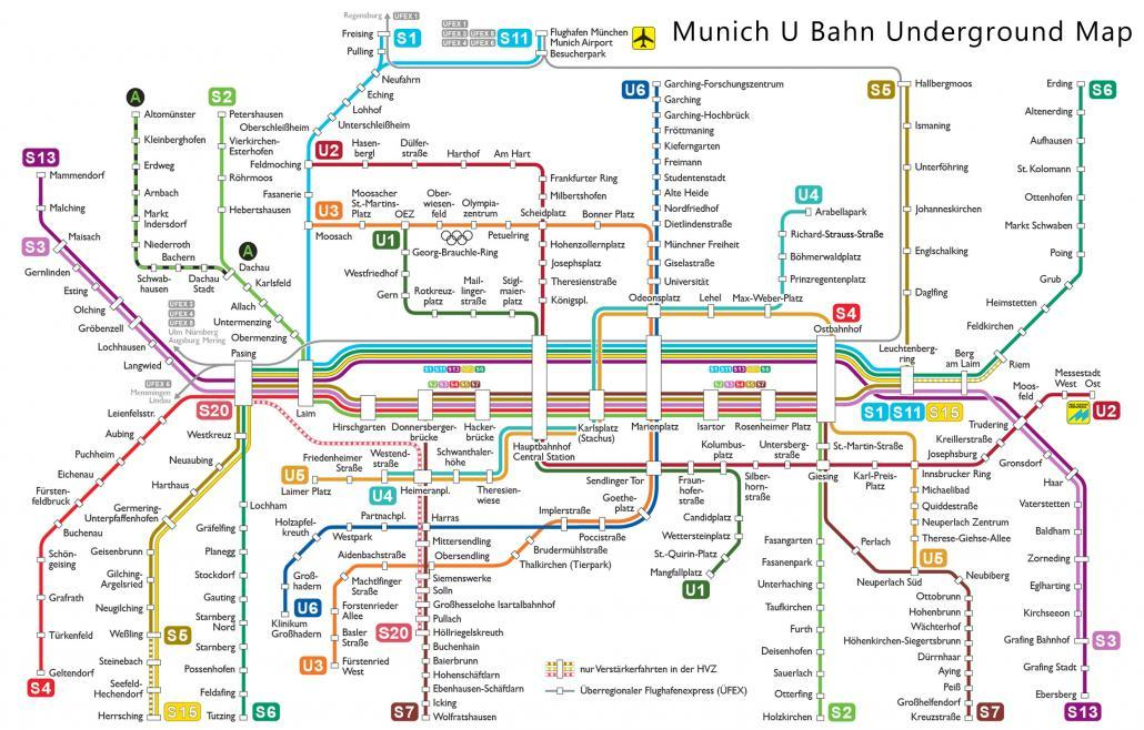 munich u bahn underground map