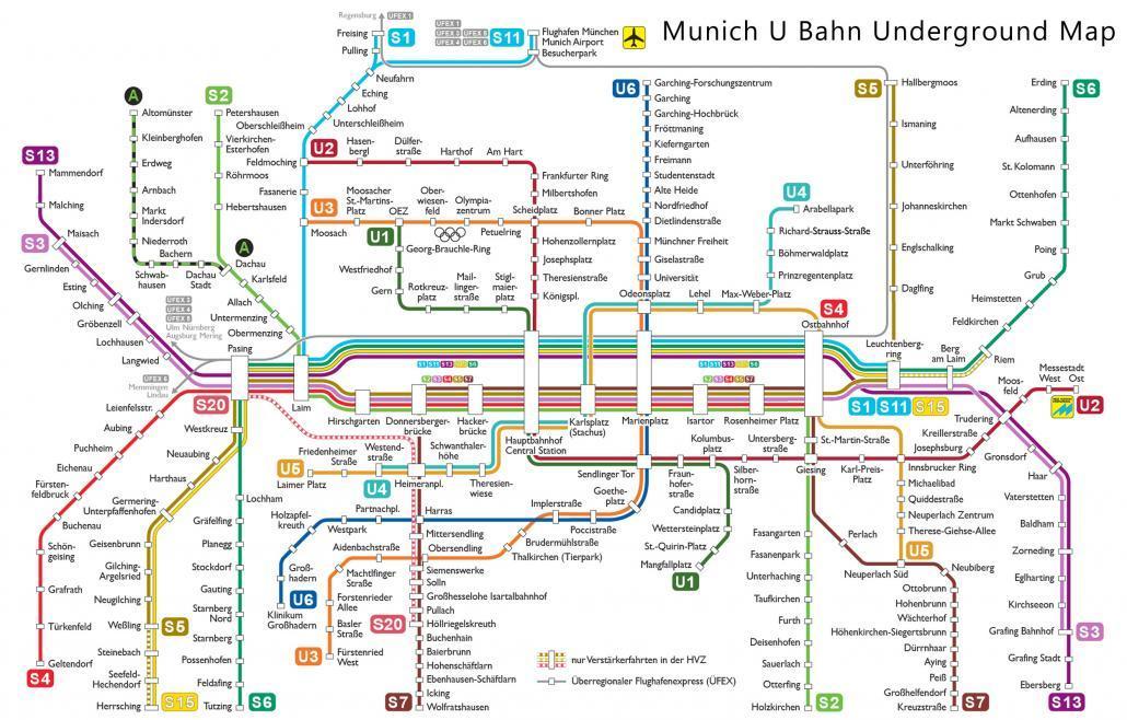 munich u bahn underground map