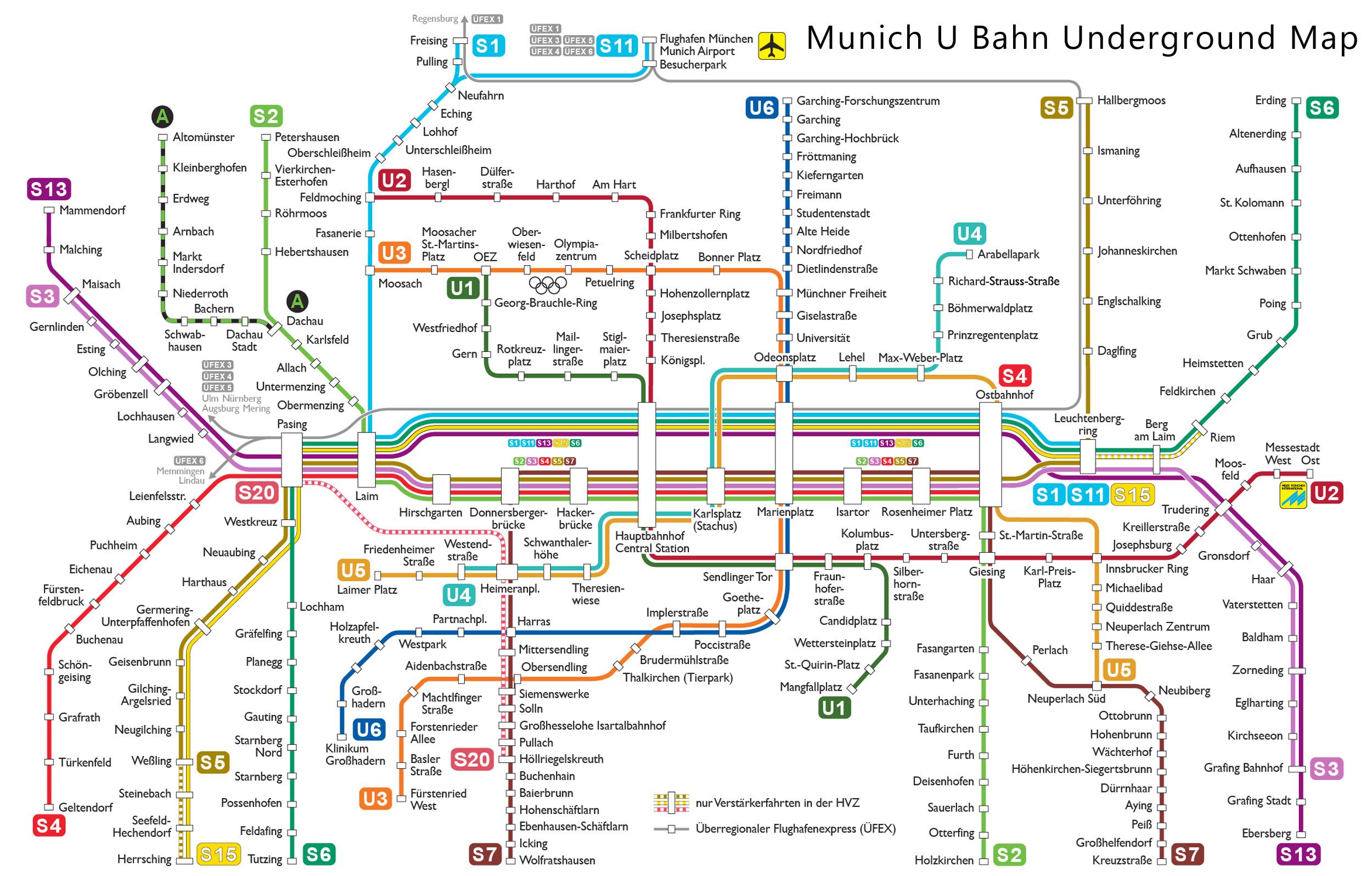 Mnchen munich u bahn map rings chameleon web services munich u bahn underground map ccuart Images