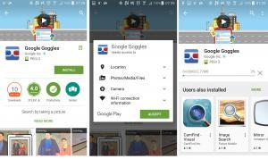 Google Goggles Android Installation