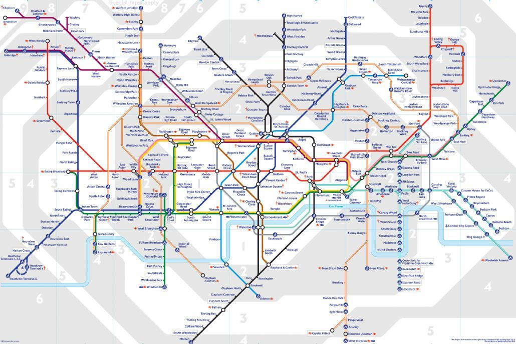 London Tube Map Printable 2016