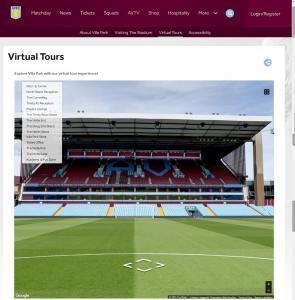 Aston Villa 360 Virtual Tour