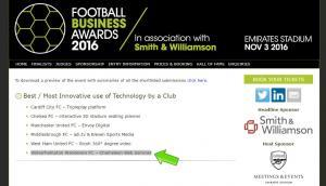 Football Business Awards 2016