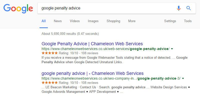 Google Penalty Advice in Birmingham