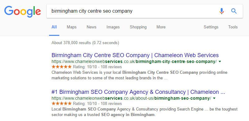 Birmingham City Centre SEO Company