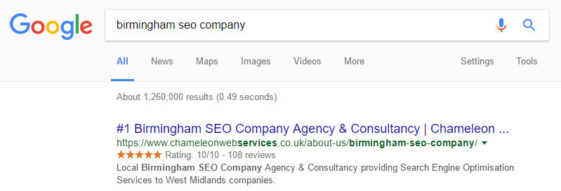 Birmingham SEO Company Google Search