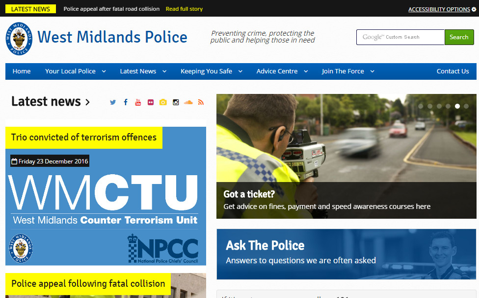 West Midlands Police Website