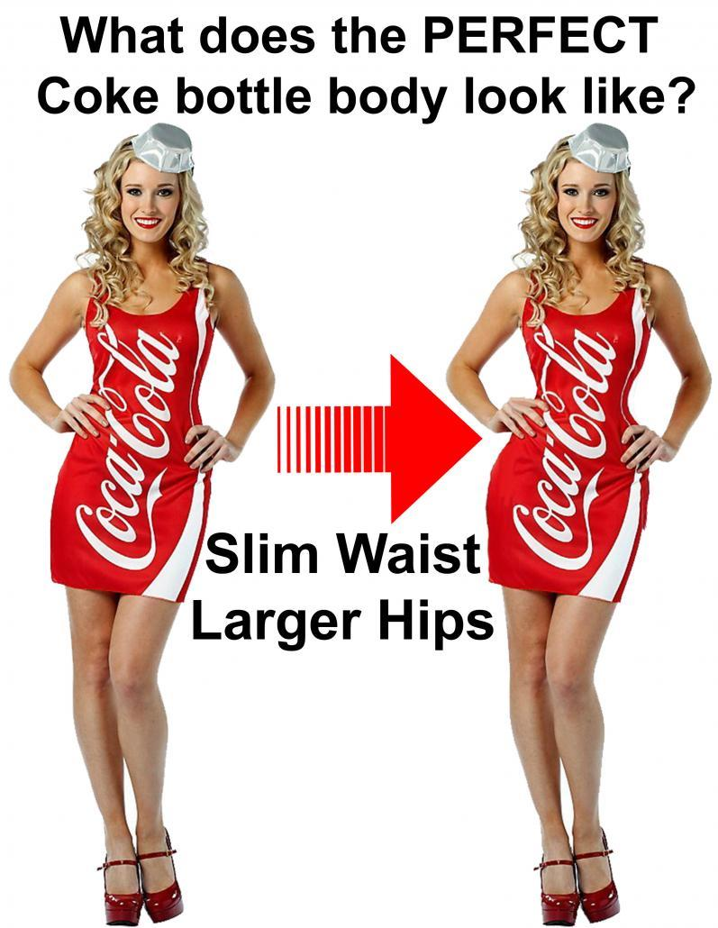 What does the Coke bottle body look like