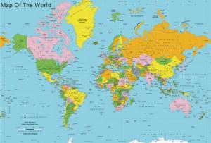 HD Map of the world 2017