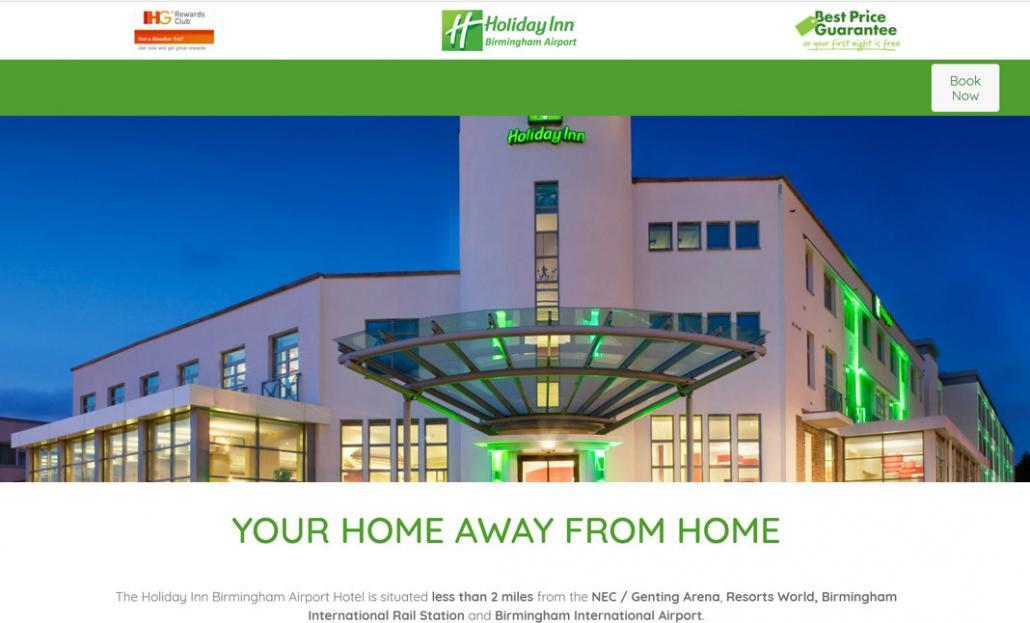 holiday in birmingham airport website launched