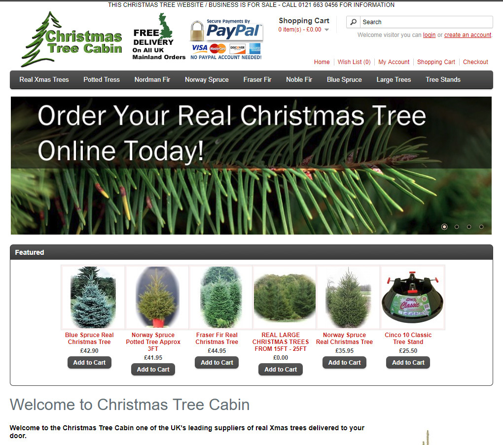 christmas tree cabin